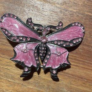 Large butterfly belt buckle